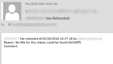 How to: send an email when a server reboots…including who