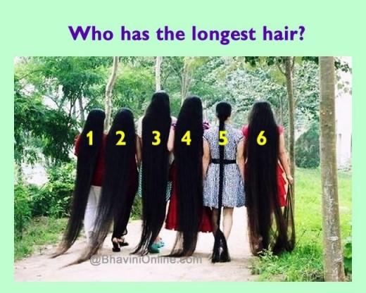 Наблюдателни ли сте? Кое е момичето с най-дълга коса?