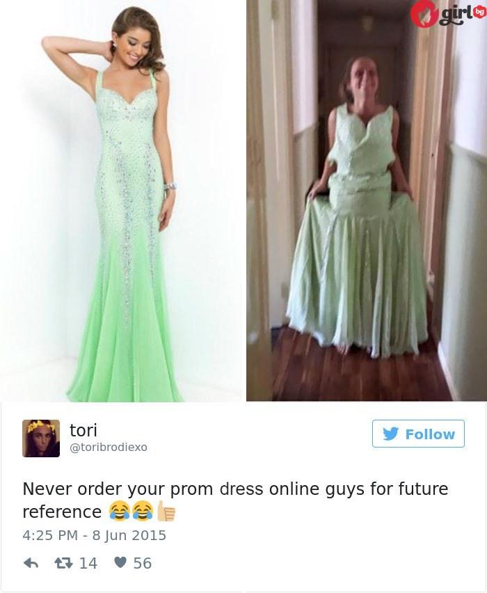 Поръчваш рокля, а получаваш...