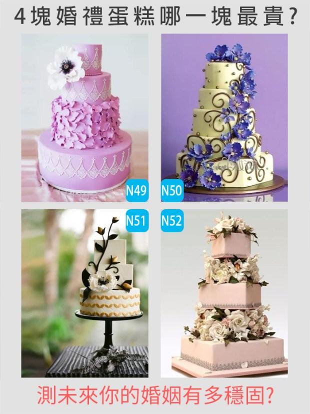 398_4塊婚禮蛋糕哪一塊最貴,測未來你的婚姻有多穩固_主圖