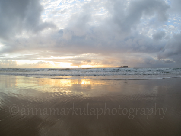 landscape sunrise Mudjimba Beach cloudy