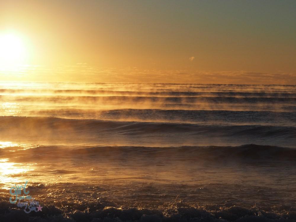 sunrise sea mist gold light Mudjimba