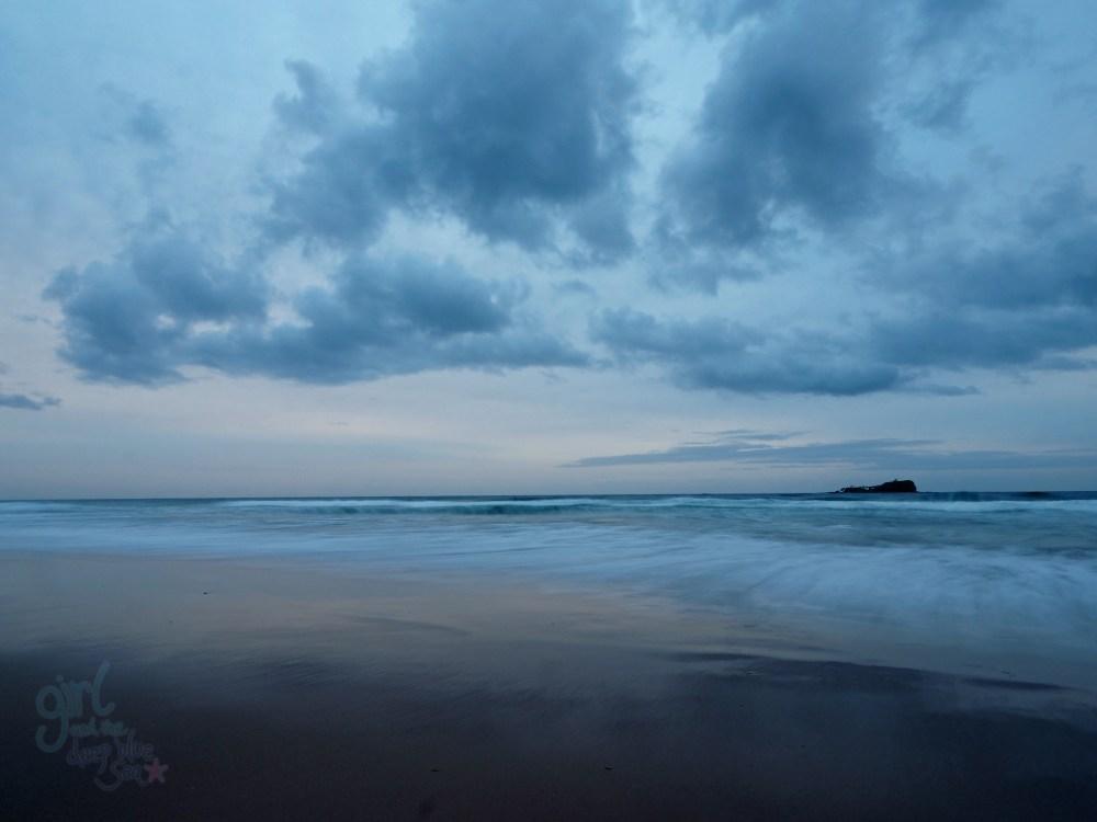 cloudy landscape ocean Mudjimba Beach