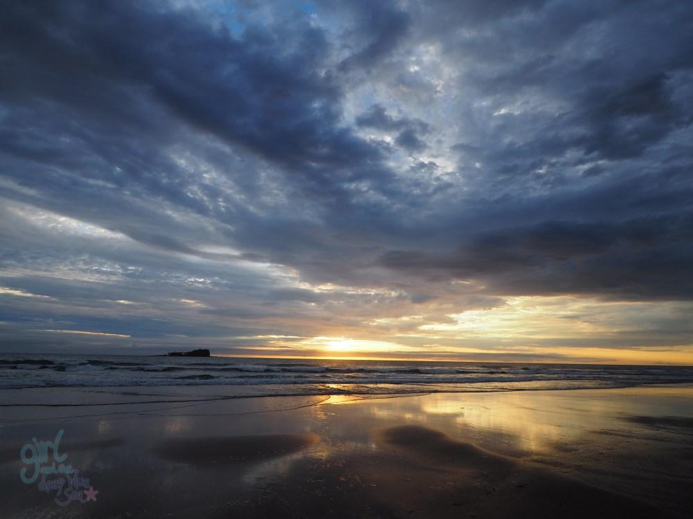 stormy sunrise landscape Mudjimba Beach