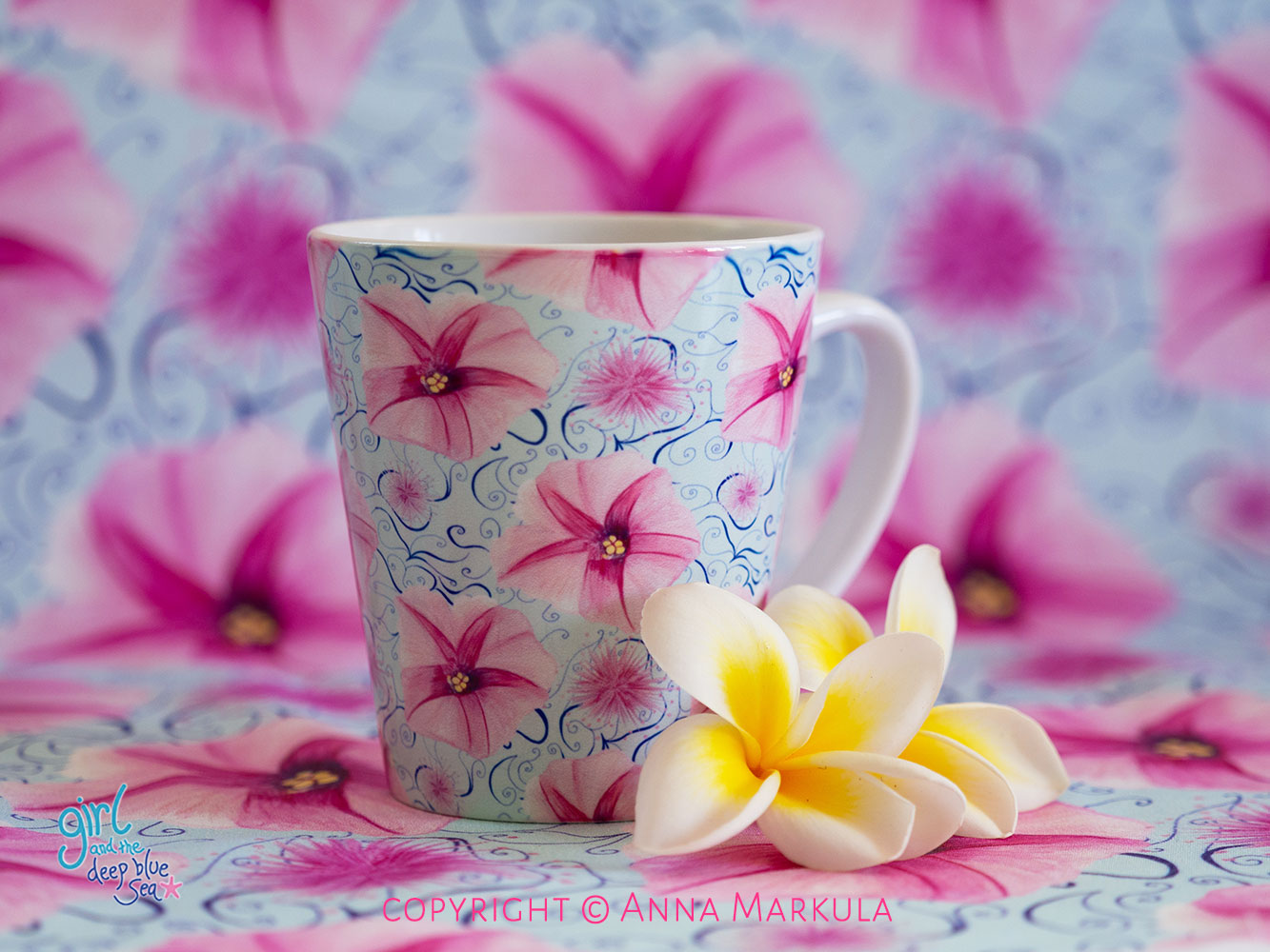 floral repeat pattern design by Australian surface pattern designer