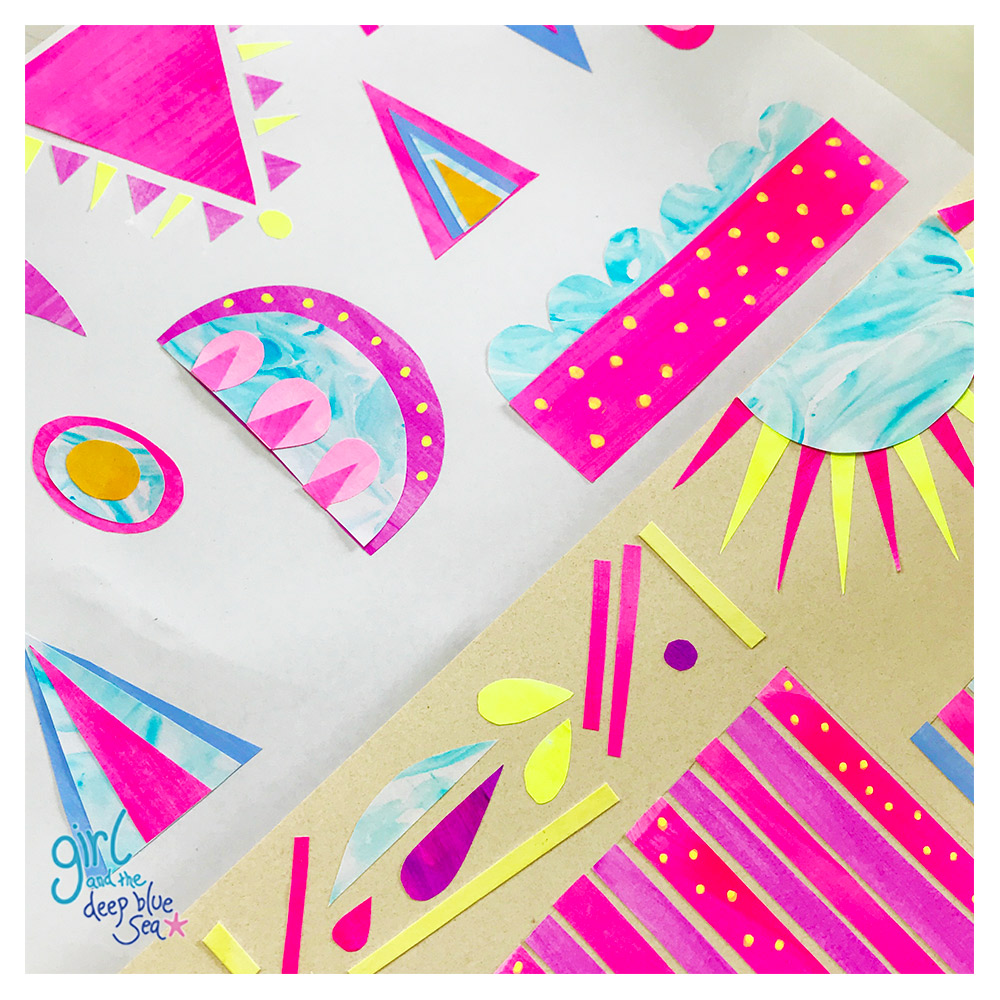 photo of paper collage shapes