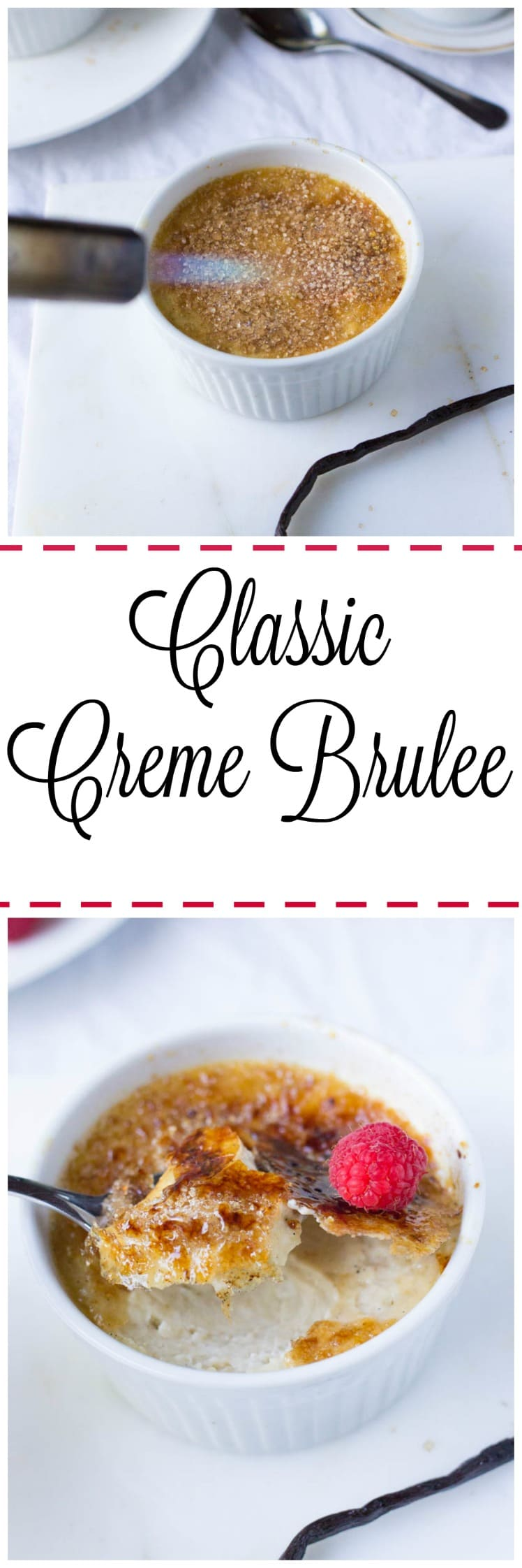 A classic creme brûlée is the perfect dessert for ANY occasion. The creamy custard inside pairs beautifully with the crispy caramel outside. Plus it naturally comes with the best party trick around: torching. Prepare to blow away all your guests with this delicious and simple classic French dessert!