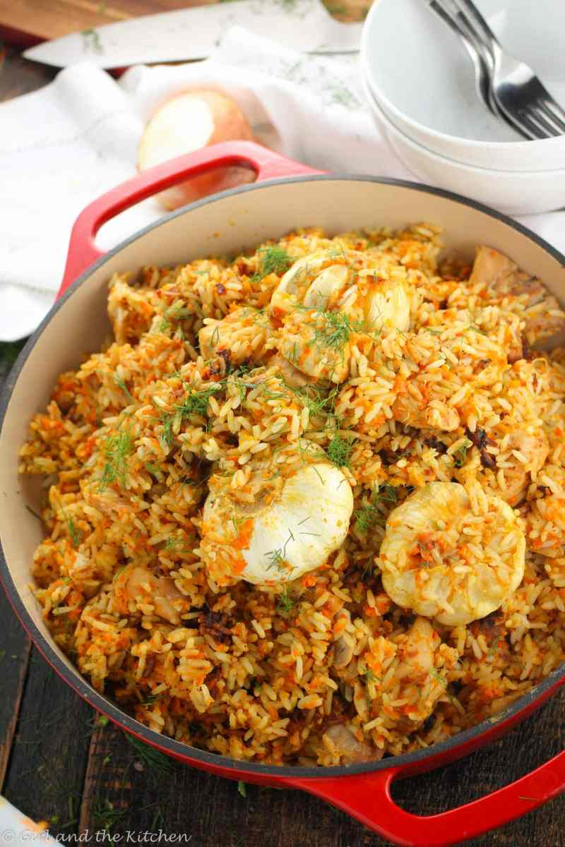 russian plov a one pot chicken and rice recipe girl and the kitchen