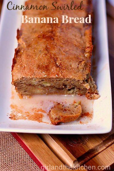 cinnamon swirled banana bread pinterest