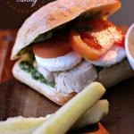 Pesto Chicken Caprese Sammy. Girl and the Kitchenv