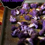 Oven Roasted Purple Garlic and Parmesan Cauliflower.Pinterst