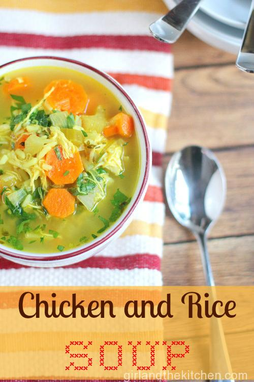 Chicken and Rice Soup. The Girl and the Kitchen