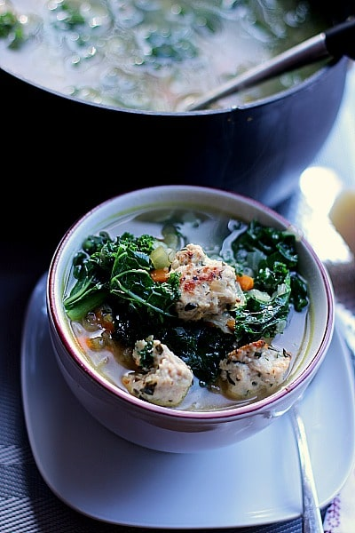 A warm and comforting bowl of classic Italian Wedding Soup that is healthy, filling and features a secret ingredient for the best tasting broth possible!