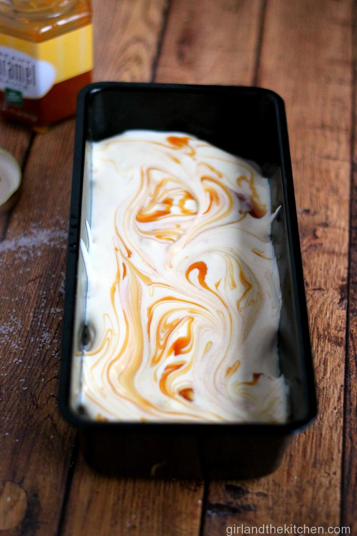 No Churn Salted Caramel Ice Cream from the Girl and the Kitchen