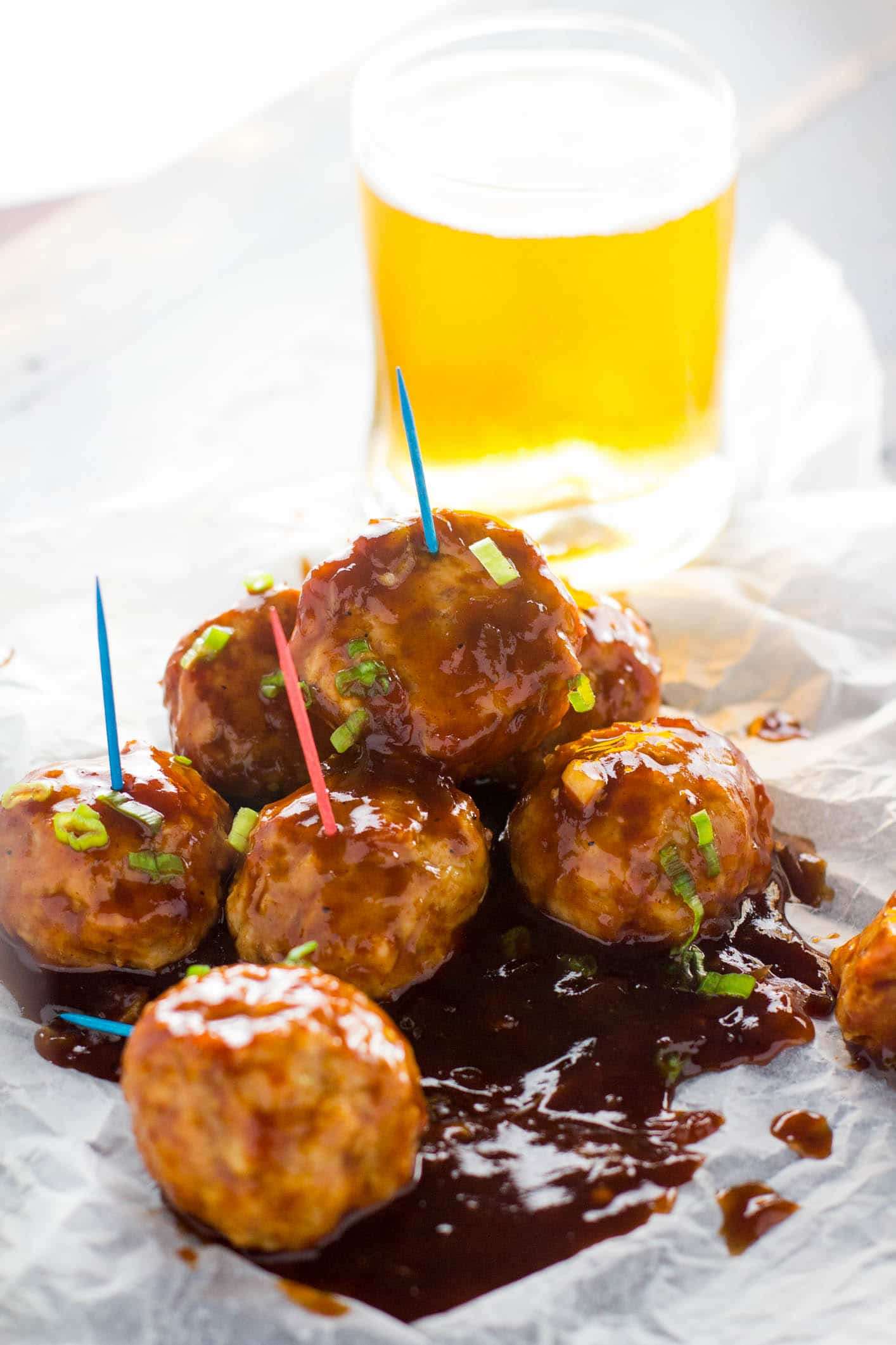 Tender and deliciously easy meatballs that come together in under 30 minutes, all dipped in a heavenly chipotle and bourbon glaze.