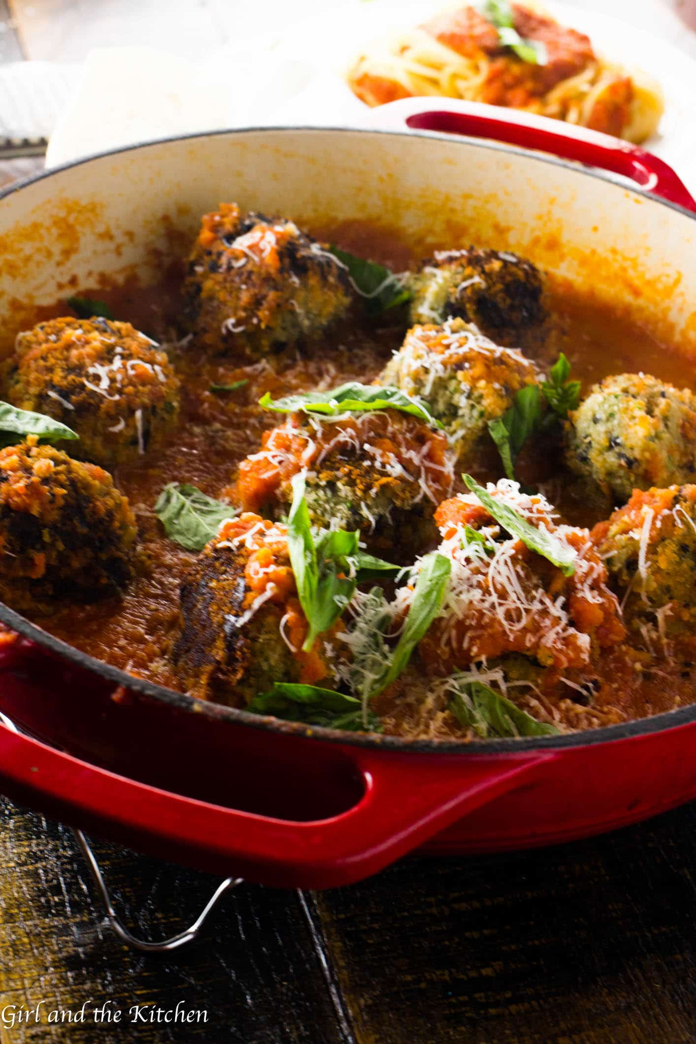Crunchy on the outside and super tender on the inside! These gorgeous vegetarian meatballs are full of veggies and protein! Plus they are very easily converted into a vegan meal!
