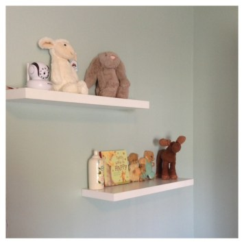 Nursery Room Shelves