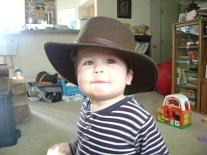 He loves this hat!