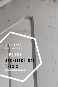 Tips for Architectural Thesis