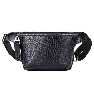 A photo showing Faux Alligator Leather Waist Bag