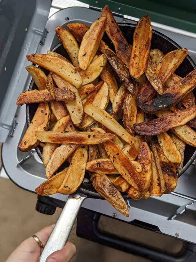 Wonder how to clean a cast iron skillet? Cast Iron French Fries With Chili Girl Carnivore