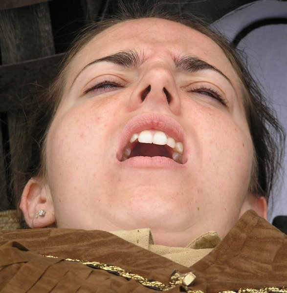 Orgasm face girl