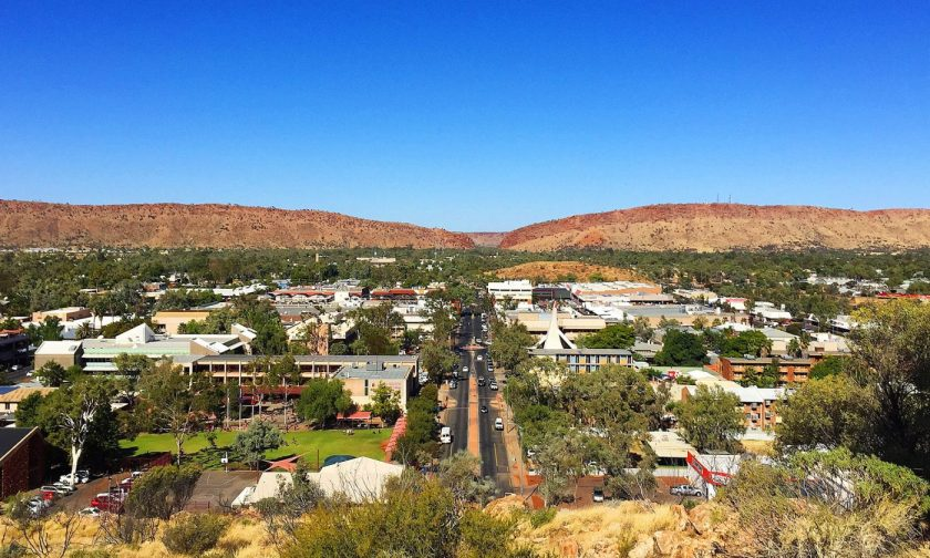 Alice Springs Downtown from Anzac Hill Lookout