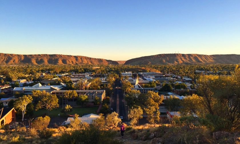 Anzac Hill Lookout during sunset