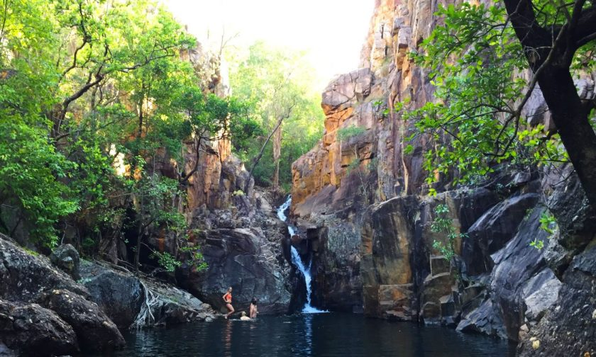 A hidden plunge pool at Kakadu National Park