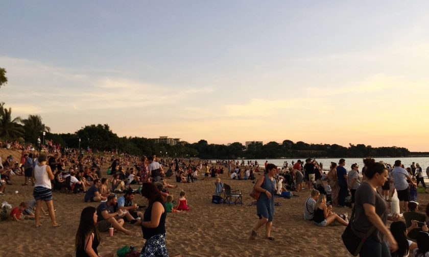 The crowd at Mindil Beach waiting for sunset