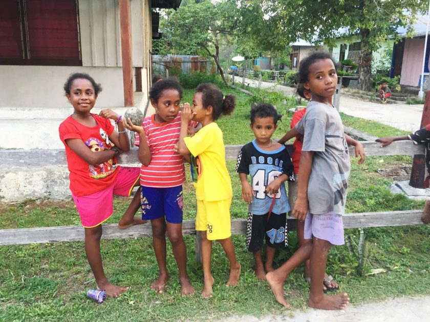 Local Kids in Saonek Village