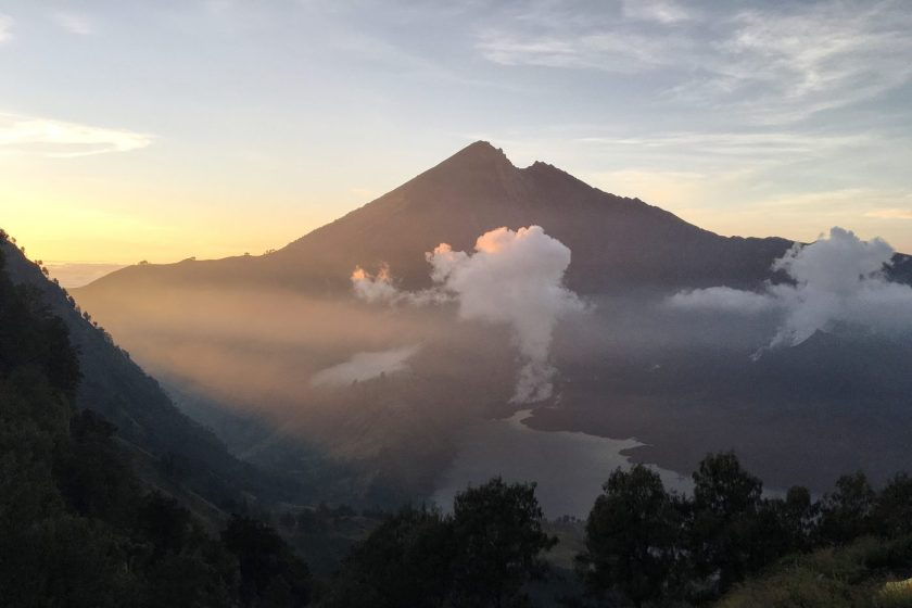 Sunrise from Rinjani Crater Rim