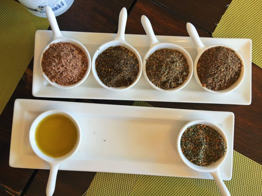 Many different types of Za'atar at Thyme and More