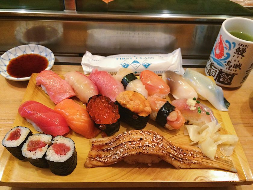 16-piece sushi for breakfast? Why not!