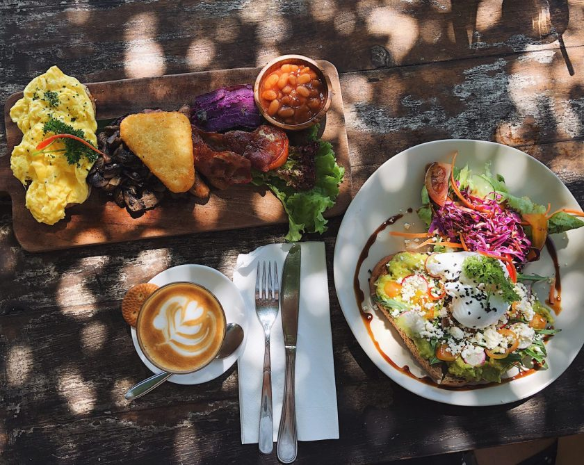Breakfast Platter and Smashed Avo at Nook