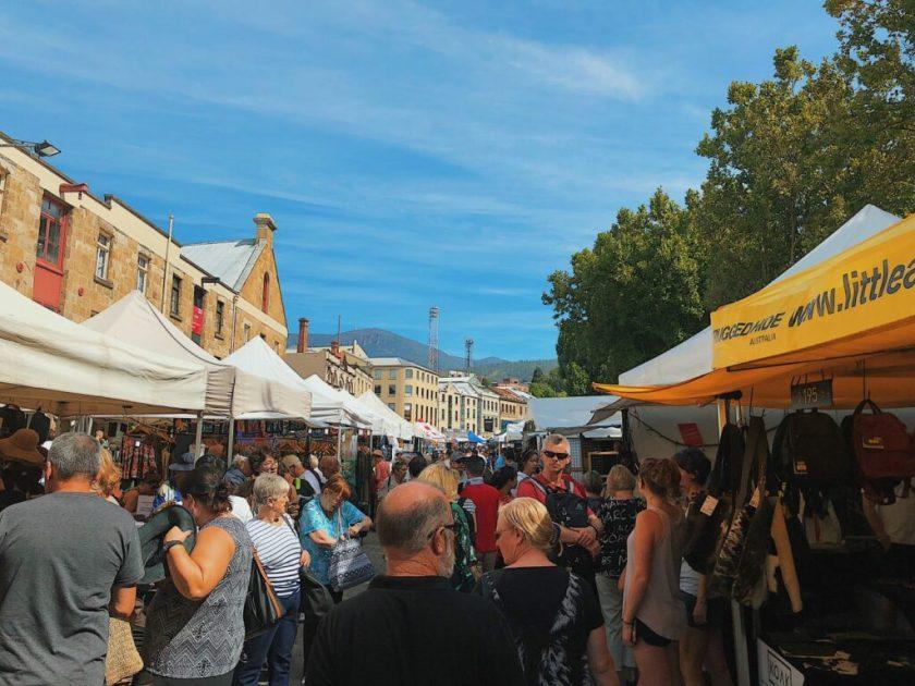 Crowded Salamanca Market