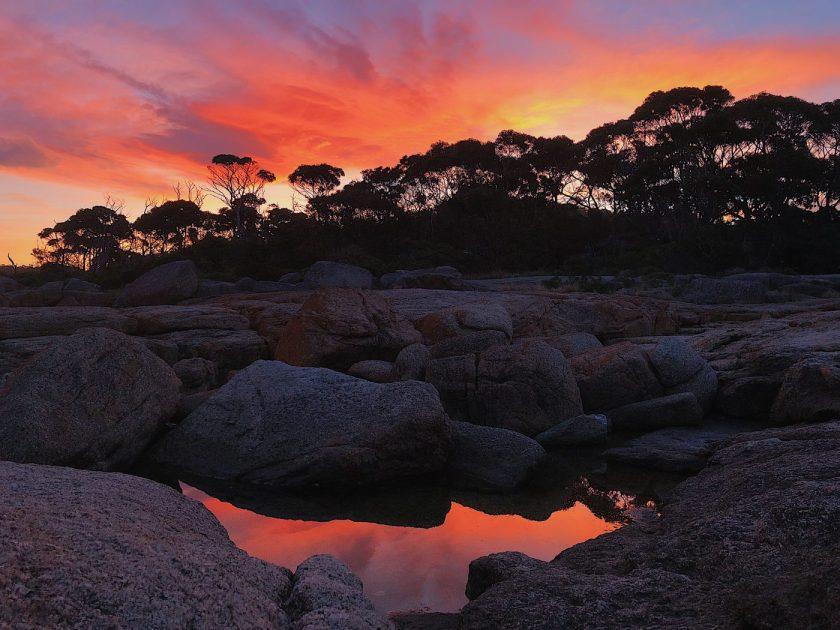 Sunset at Bicheno Beach