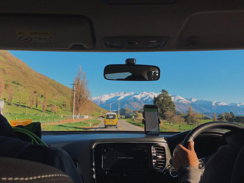 Drive to Mount Aspiring National Park