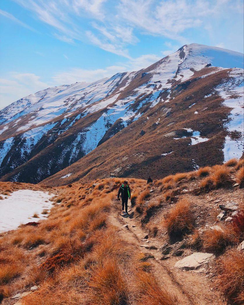 Track to summit