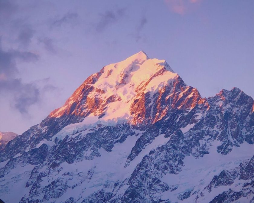 Last Look at Mount Cook