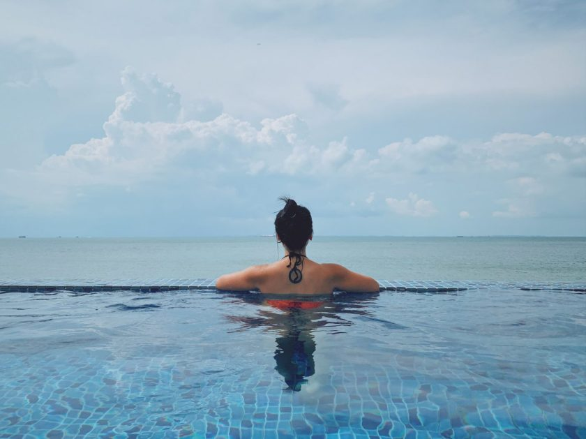 At the Infinity Pool of Montigo Resorts Nongsa