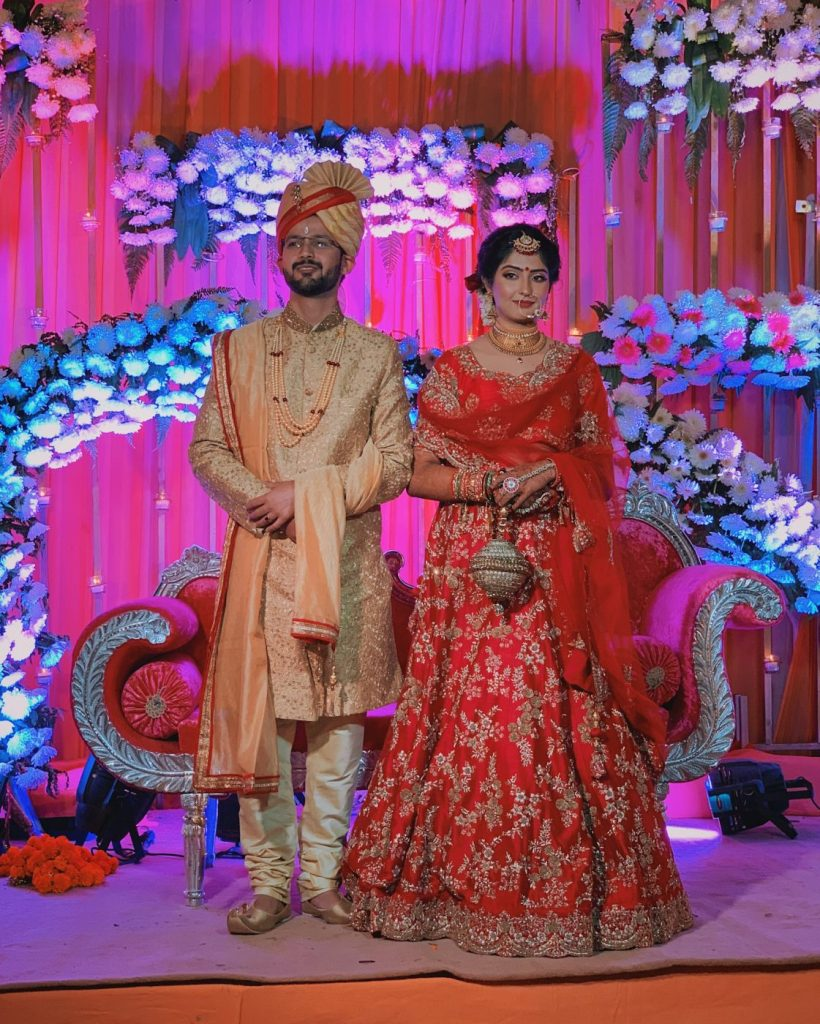The couple after their wedding ceremony
