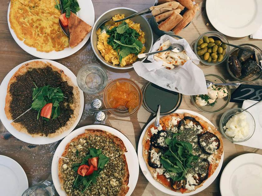 Traditional Jordanian Breakfast: Manakish