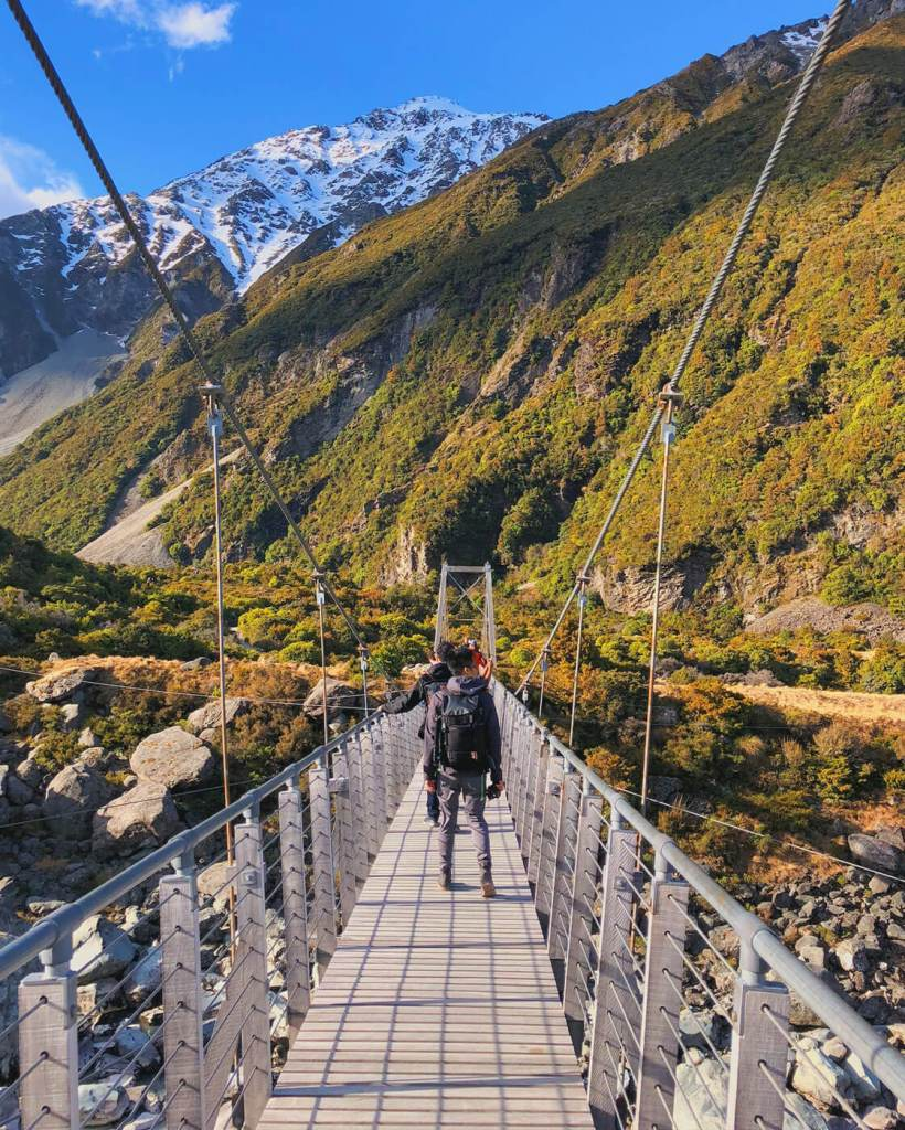 First Suspension Bridge at Hooker Valley