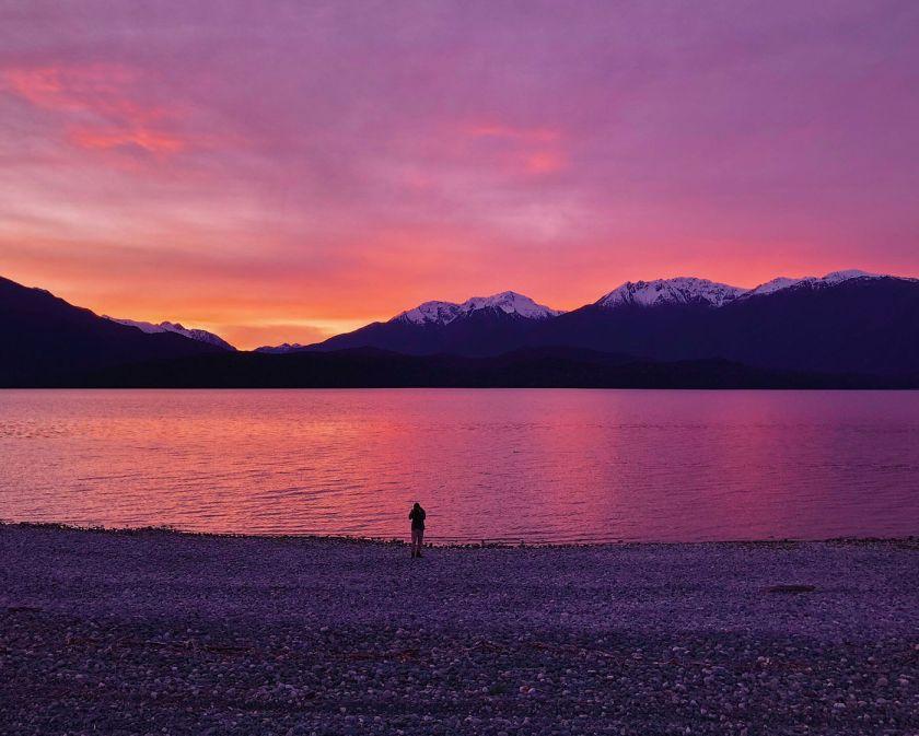Te Anau Lake at Sunset