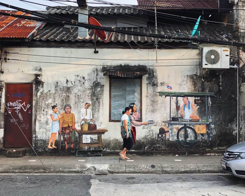 Murals in Old Phuket Town