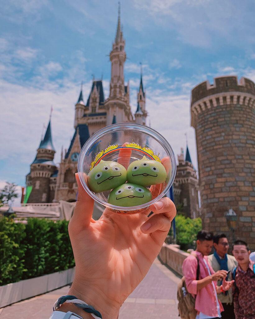 Green Alien Mochi at Tokyo Disneyland