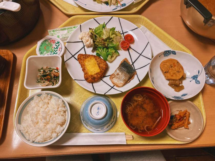 Dinner at Yokoo Sanso Kamikochi
