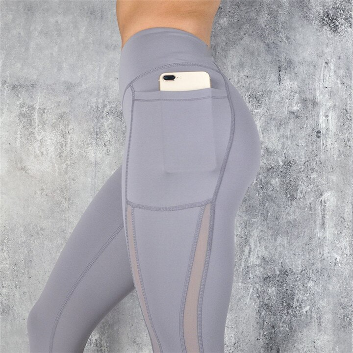 Women's High Waist Solid Color Sports Leggings
