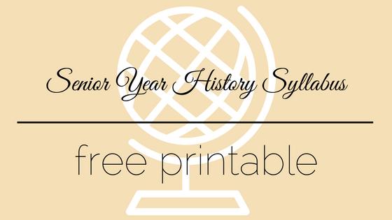 Free Printable History Syllabus